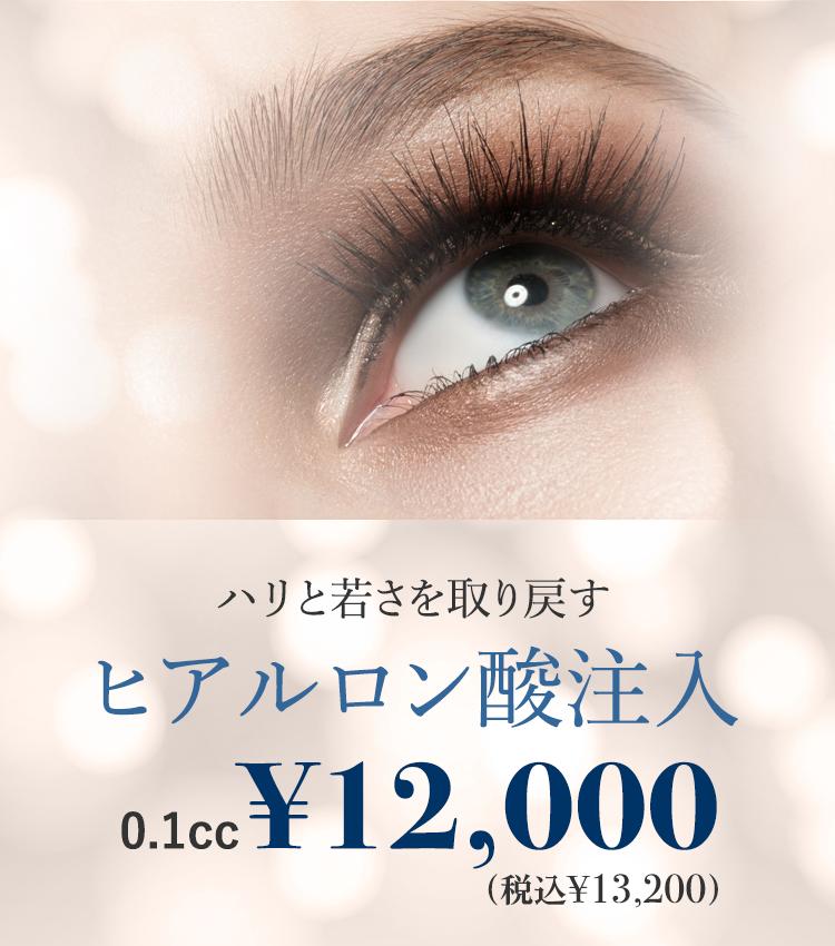ハリと若さを取り戻すヒアルロン酸注入 0.1cc ¥2,800 ※1cc単位での購入